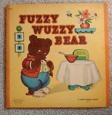 """""""FUZZY WUZZY BEAR BOOK."""""""