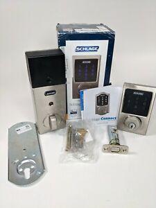 Schlage Connect Smart Deadbolt with Alarm with Century Trim BE469ZP CEN 626