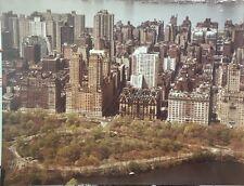 1970'S CENTRAL PARK DAKOTA UPPER WEST SIDE MANHATTAN NY AERIAL ADVERTISING PHOTO