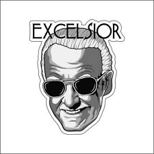 Excelsior Stan Lee Custom Printed Vinyl Decal / Sticker 3(THREE) Pack