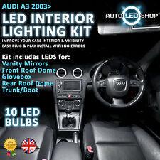 AUDI A3 8PA 2003> LED INTERIOR UPGRADE COMPLETE KIT SET BULB XENON WHITE SMD