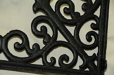 NEW (1) LG Tuscan Blk Iron Corbel shelf bracket counter top support cornices