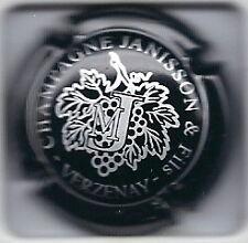 Capsule de champagne Janisson et fils noir et argent