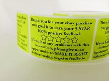 Thank You for your eBay Purchase/FB 2x3 Yellow Fluorescent Color 25 NEW NEON