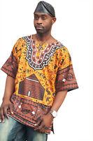 Gye Nyame Traditional African Print Dashiki Shirt