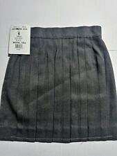 Becky Thatcher Girls Uniform Skirt Size 6 Gray