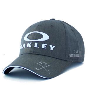 Oakley Mens Golf Cap USA Adjustable Baseball Hat Casual Ball Run Sport OSFA Gray