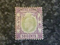 HONG KONG POSTAGE STAMP SG71 50 CENTS FINE USED