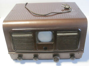 Vintage 1940s Pilot TV with Case and Diagram Paperwork
