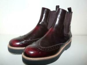 Zara Woman Rich Burgundy Ankle Boot 39 US 8-8.5 Beautiful!