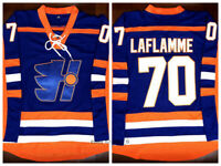 Goon Xavier LaFlamme #70 Halifax Highlanders Movie Hockey Jersey Stitched Blue