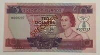 SOLOMON ISLANDS SPECIMEN 10 DOLLARS 1979 UNC
