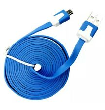3M Flat Noodle Micro USB Charger Sync Data Cable for Phones Android  Samsung