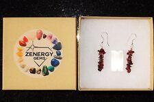 CHARGED Rhodolite Garnet Crystal Chip Earrings REIKI Energy! ZENERGY GEMS™