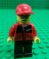 *NEW* Lego NASA Red  Space Jacket Torso Worker Minifigure Man Custom Fig  x 1