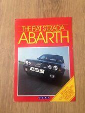 1985 Fiat Strada Abarth Brochure