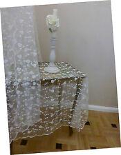 Vorhang  B180xH220cm Spitze Tüll Rosen Miriam Schlaufenvorhang Spitzenstickerei