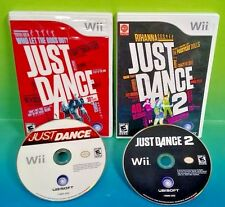 Just Dance 1 + 2 Dancing Games Nintendo Wii Game Lot Bundle 1-4 players Complete