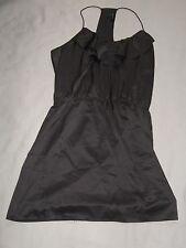 WOMENS NAKED ZEBRA SLEEVELESS DRESS DARK CHOCOLATE BROWN SIZE SMALL