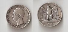 Italy 5 lire 1927 R