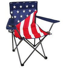 American Flag Chairs 4 Set Folding Portable Stars Stripes July 4th Camping Seat