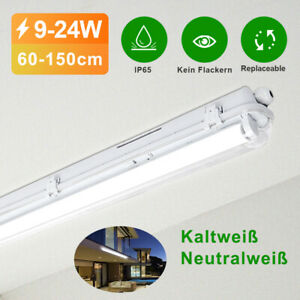 LED Feuchtraumleuchte inkl. LED Röhre 60/120/150cm Wannenleuchte