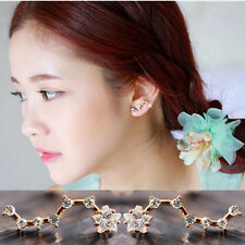 Korea Pop 1 Pair Stunning Crystal Star Big Dipper Lady Ear Studs Earrings Party