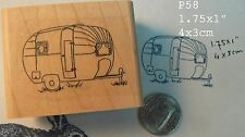 P58 Trailer, camper,  rubber stamp