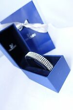 Genuine Swarovski Golf crystal black leather bracelet £109 wedding prom birthday