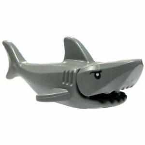 Lego SHARK Standard Sea Animal Rescue Ocean Articulated Mouth Printed Eyes JAWS