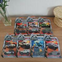 7 x Jurassic World Matchbox Car Set Bundle - Brand New & Sealed