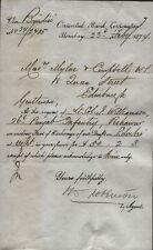 1874 BOMBAY, ORIENTAL BANK CORPORATION, TO EDINBURGH, RE LT. COL. J. WILLIAMSON