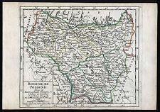 POLEN Königreich Landkarte Vaugondy 1749 kolorierter Kupferstich Original