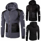 New Mens Slim Fit Hoodie Warm Hooded Sweatshirt Coat Jacket Outwear Sweater 463U
