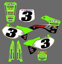 2001 kx125/250 Jeff emit edge racing Kawasaki replica decal kit, new