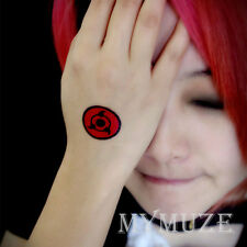 Naruto Madara Uchiha Tobi Cosplay Tattoo Sticker Sharingan Tatoo