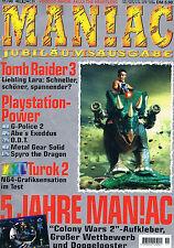 PLAYSTATION 1 Maniac STICKER SKIN ADESIVI Colony Wars incl. rivista 11/98