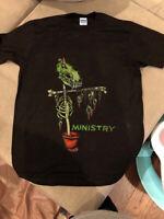 Vintage Ministry RARE Scarecrow T-Shirt Band Concert Tour Gildan Reprint S-3XL