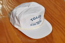 White Blue CR Conrail Toledo Division Injury Free Snapback Railroad Hat Cap