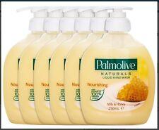 6 x Palmolive Naturals Nourishing Liquid Hand Wash Milk & Honey 250mL Brand New