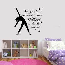 Gimnástico danza Niñas inspiradoras-Dormitorio-textualmente-Vinyl - wall-art-STICKER/DECAL