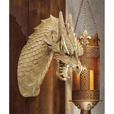 St. George's Medieval Dragon Head Mounted Trophy Wall Sculpture
