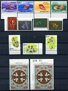 VA1150 ROC CHINA TAIWAN 1971 Lot of 3 complete sets + 2 blocks of 4, MNH, good c