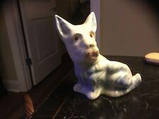 Vintage Scotty Dog/Scottish Terrier-Planter-Light Pastel Blue/Pink/Cream-Nice!