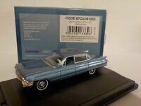 Model Car, Cadillac Sedan Deville 1961 - Blue, 1/87 New Oxford 87CSD61003