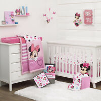 Disney Minnie Mouse Loves Dots 3 Piece Baby Crib Bedding Set - See details