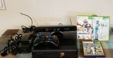Xbox 360 S Matte Black 250GB, Kinect, Wireless Controller, Cords  & 3 Games
