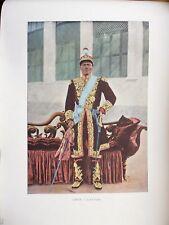 LE DAHOMEY:Gravure 19°in folio couleur/ LE ROI TOFFA