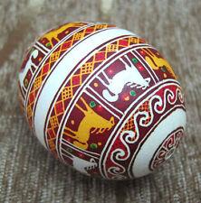 Pysanka Ukrainian real chicken Easter egg Handmade by artist Western Ukraine