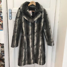 MISS SELFRIDGE SIZE 8 FAUX FUR GREY COAT WOMENS LADIES JACKET NEXT DAY POST